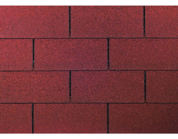 Dachschindeln Rechteck rot