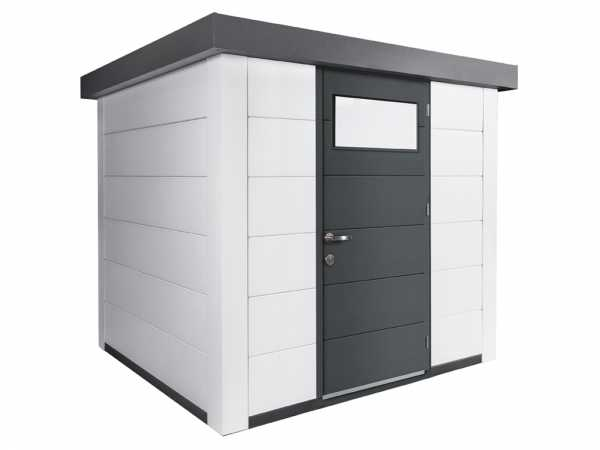Gerätehaus aus Metall Eleganto 2424 Weiß