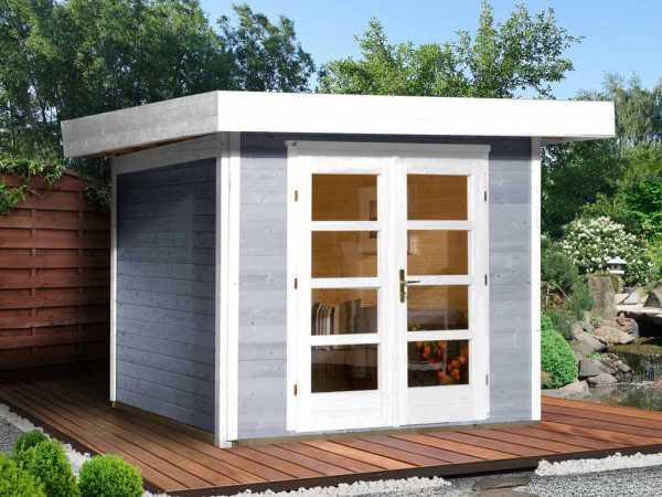 Gartenhaus Designhaus 126 Plus Gr. 3 grau