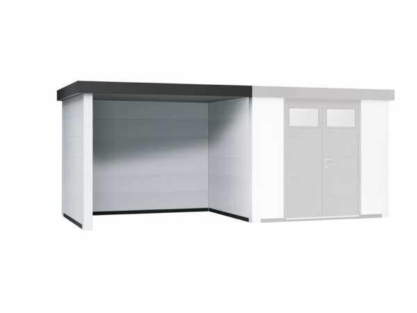 """Loungeanbau links für Gerätehäuser """"Eleganto 2424"""" und """"Eleganto 3024"""" Weiß"""