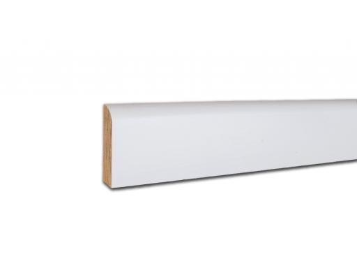 Sockelleiste weiß lackiert massiv Profil 495