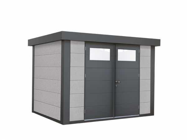 "Gerätehaus aus Metall ""Eleganto 2721"" Dekorputz"