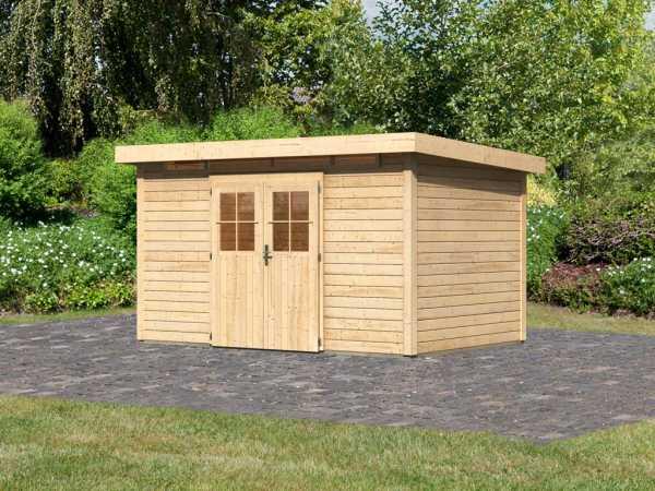 Gartenhaus Kerpen 5 CLASSIC 28 mm naturbelassen