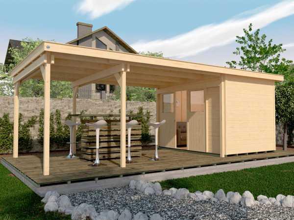 Gartenhaus 225 B Gr. 1 21 mm naturbelassen