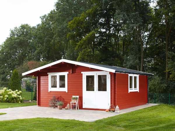 """Gartenhaus Blockbohlenhaus """"Nordkap 70-G XL"""" 70 mm naturbelassen"""