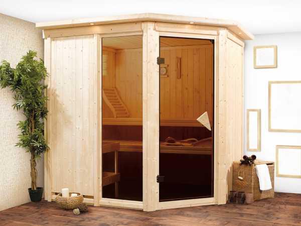 Sauna Systemsauna Fiona 2 mit Dachkranz