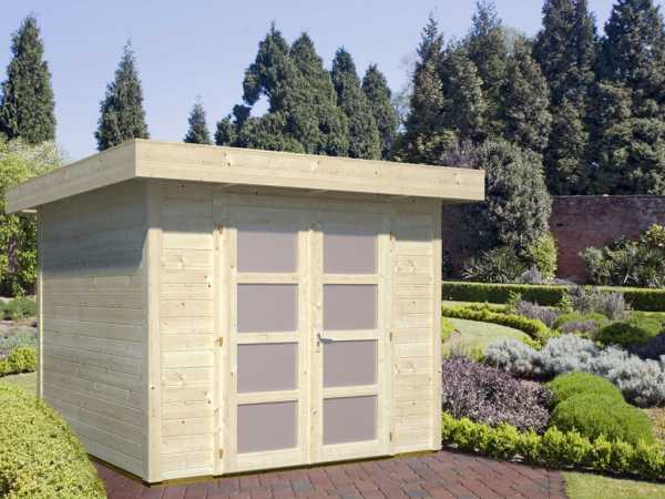 Gartenhaus Blockbohlenhaus Lara 6,0 m² 28 mm naturbelassen