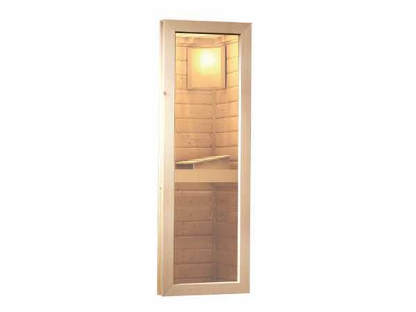 Saunafenster Klarglas naturbelassen