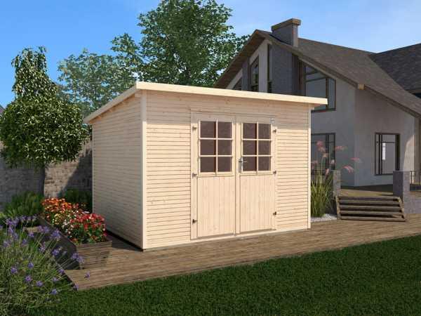 Gartenhaus 219 Gr. 3 28 mm naturbelassen