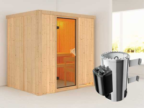 Sauna Systemsauna Fanja inkl. Plug & Play Saunaofen Steuerung