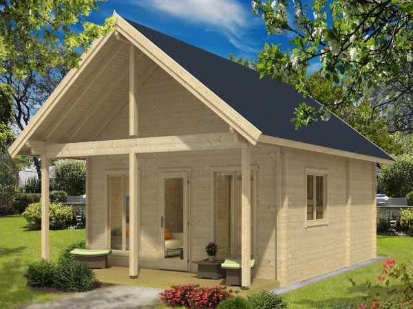 ferienhaus blockbohlenhaus grossglockner 94 mm naturbelassen satteldach gartenhaus. Black Bedroom Furniture Sets. Home Design Ideas