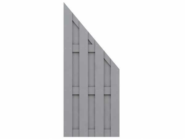 Sichtschutzzaun JUMBO WPC Abschlusselement grau
