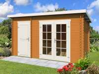 Gartenhaus Blockbohlenhaus Belmont 1 28 mm eiche