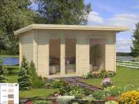 Gartenhaus Blockbohlenhaus Heidi 11,7 m² 44 mm naturbelassen