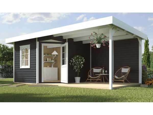 Gartenhaus Designhaus 213 B Gr. 2 28 mm anthrazit