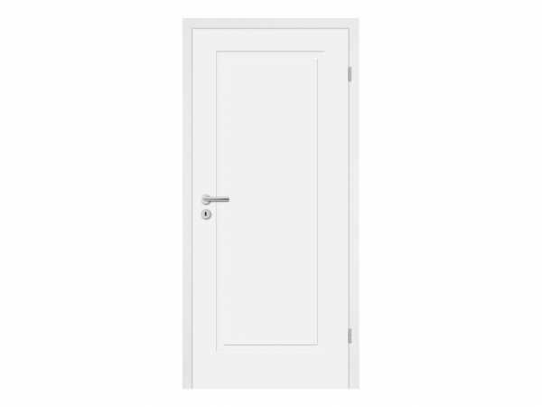 Zimmertür Cala 01 Weißlack RAL 9003 Designkante