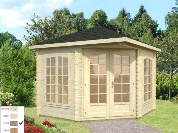 "Pavillon ""Melanie"" 6,8 m² grau tauchimprägniert"