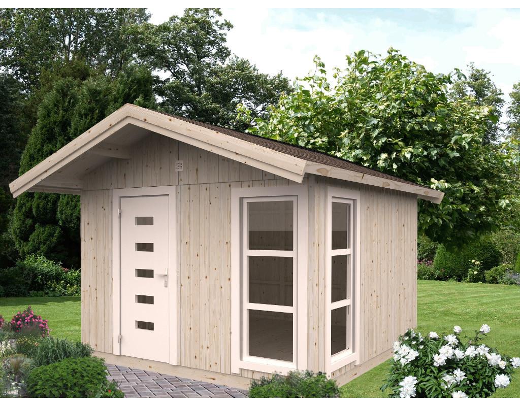gartenhaus ly 10 3 m 18 70 mm naturbelassen pk0227. Black Bedroom Furniture Sets. Home Design Ideas