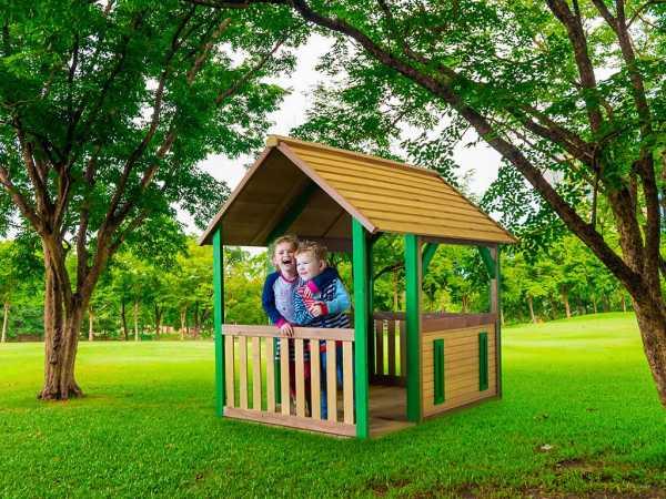 Spielhaus Forest braun/grün