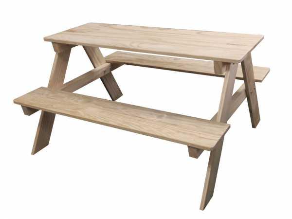 kinder tisch set naturbelassen kinderm bel f r kinder garten holzprofi24. Black Bedroom Furniture Sets. Home Design Ideas