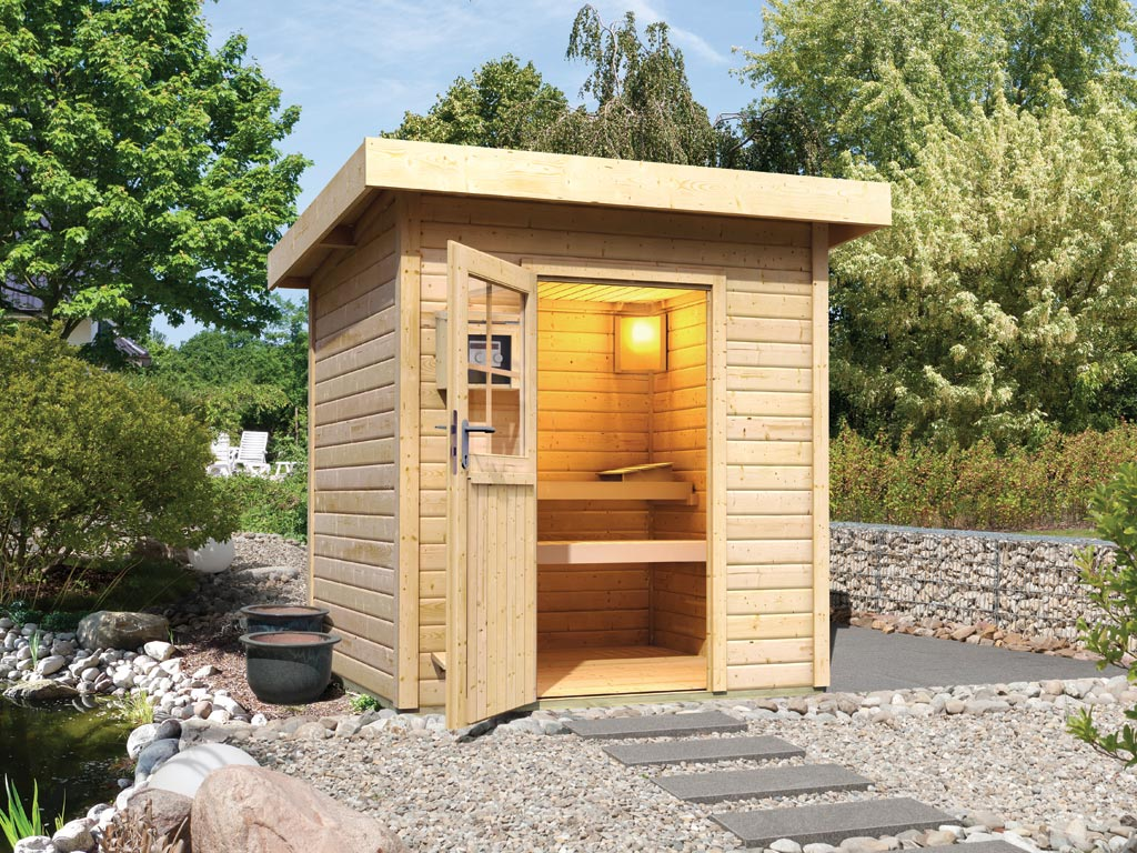 saunahaus torge naturbelassen inkl 9 kw saunaofen integr steuerung ka3724. Black Bedroom Furniture Sets. Home Design Ideas