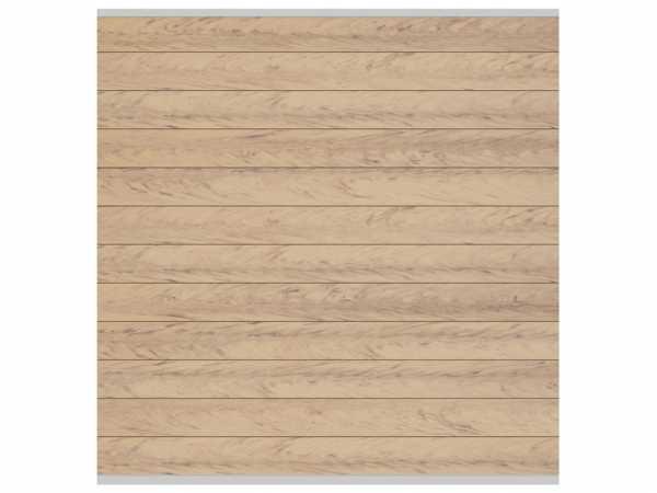 Sichtschutzzaun SYSTEM WPC Zaunfeld-Set Sand-Silber