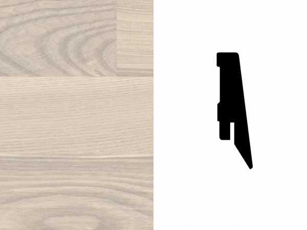 Sockelleiste Esche weißviolett Furnier Profil SKL 60