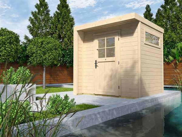Gartenhaus Designhaus 262 21 mm naturbelassen