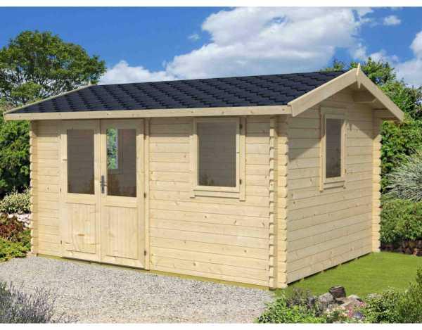 Gartenhaus Blockbohlenhaus Devonshire 43 44 mm eiche