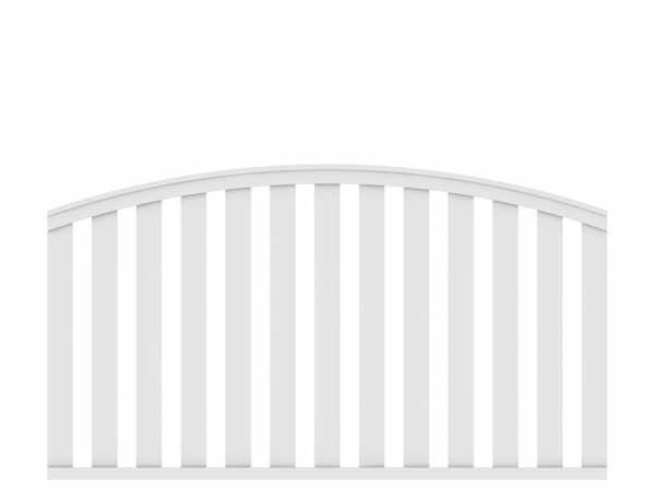 Vorgartenzaun LONGLIFE CLEO Hauptelement mit Bogen Weiß