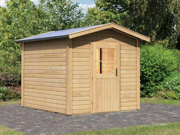Saunahaus Birka 1 mit Holztür & Vorraum