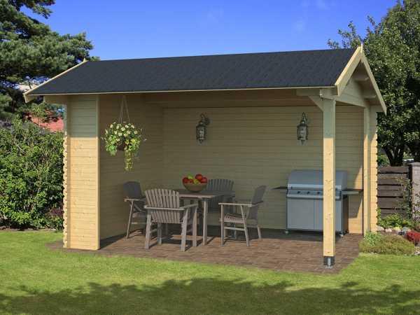 Gartenhaus Blockbohlenhaus Kirian 300 28 mm naturbelassen