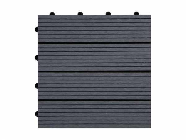 terrassenfliese wpc dunkelgrau 715365 holzprofi24. Black Bedroom Furniture Sets. Home Design Ideas