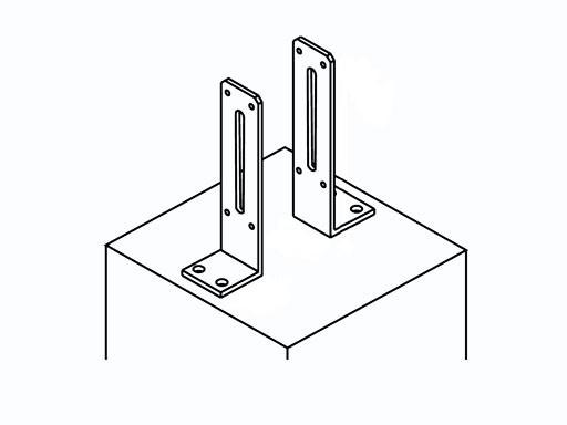 Pfostenanker für 68 x 68 mm