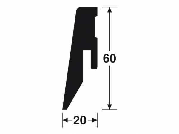Sockelleiste Räuchereiche 2211 Profil 4 K Dekor