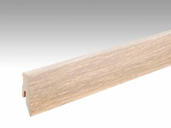 Sockelleiste Eiche cremeweiß gekälkt 1187 Echtholzfurnier Profil 3 PK