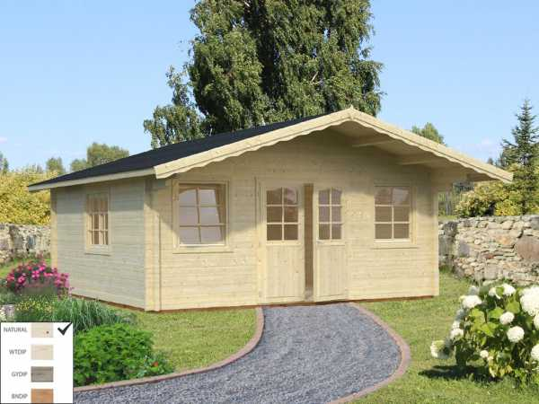 Gartenhaus Blockbohlenhaus Helena 24,6 m² 70 mm naturbelassen