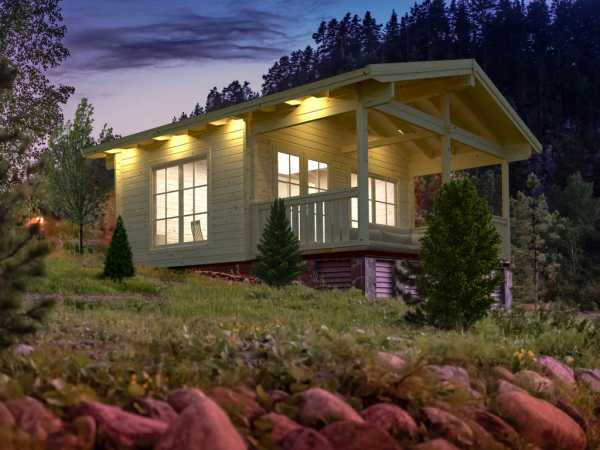 Ferienhaus Blockbohlenhaus Agneta 18,8+12,5 m² 70 mm naturbelassen