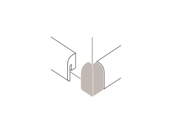 Außenecken für Sockelleiste Typ 1 SL 2 Alu-Optik