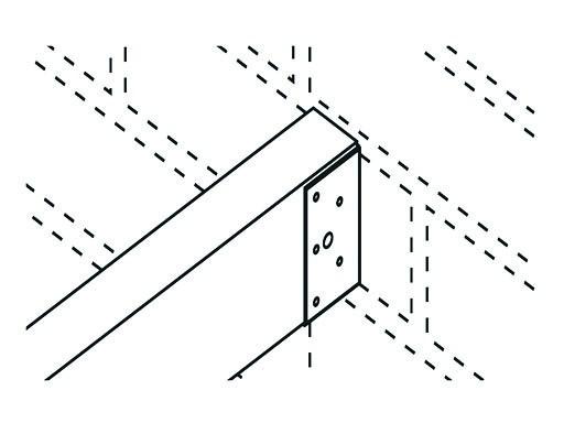 Elementhalter verzinkt Balkenschuh Wandabschluss