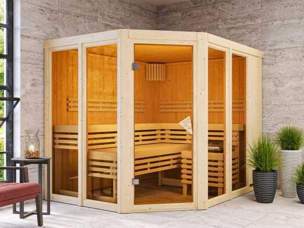 Sauna Systemsauna SPARSET Nuri inkl. 8 kW Ofen mit int. Steuerung