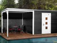 Gartenhaus Designhaus wekaLine 413 B Gr. 1 45 mm anthrazit