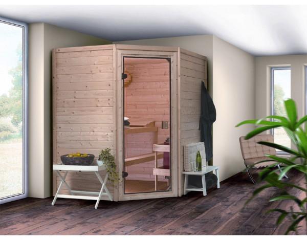 Sauna Massivholzsauna SPARSET PLUS Borgholm inkl. 9 kW Saunaofen