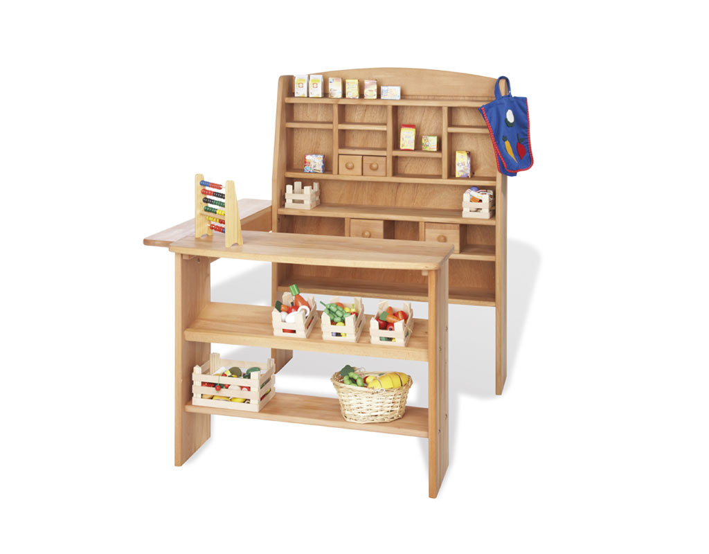 kaufladen emil buche ge lt mit leinsamen l pi0352. Black Bedroom Furniture Sets. Home Design Ideas