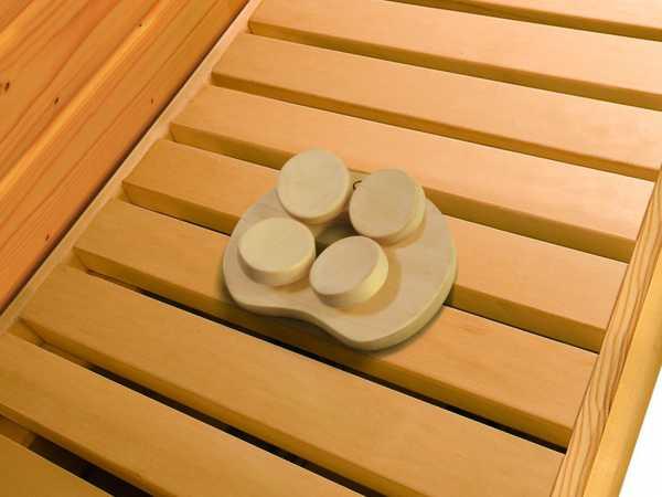 Sauna Kopfstütze ergonomisch geformt