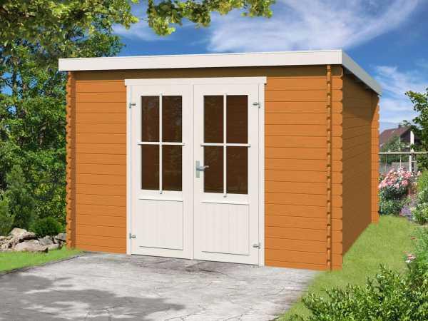 Gartenhaus Blockbohlenhaus Miami 28 mm eiche