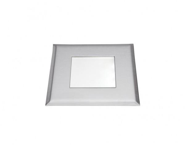LED Einbauleuchte FLAT-Quadro Edelstahl 238