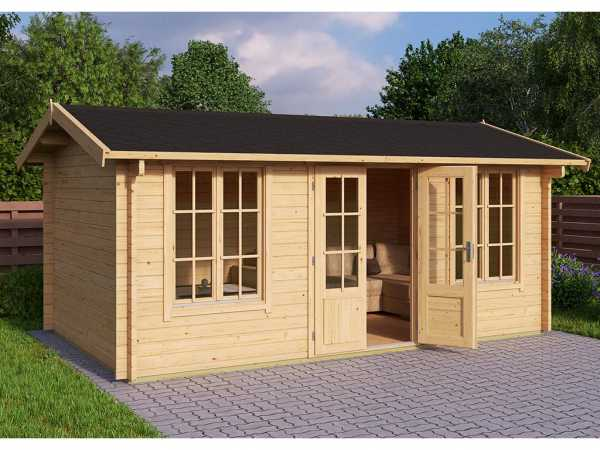 Gartenhaus Blockbohlenhaus Pembrokeshire 53 44 mm naturbelassen