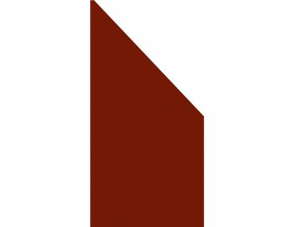 Anschluss-Sichtschutzelement BOARD rot