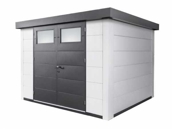 Gerätehaus aus Metall Eleganto 3024 Weiß